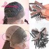 Pettini e clip all'ingrosso della parrucca per la parrucca del nero della protezione della parrucca e di colore del Brown che fa i pettini
