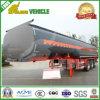 Tri-Árbol 45000 litros de la gasolina de acoplado de aluminio del petrolero