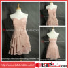 A sans bretelles - ligne Genou-Length Tiered Bridesmaid Dress (EM30)