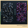 Brilhante e colorido preço PU tecido Shoe