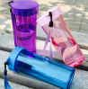 Garrafa de água colorida personalizada do produto novo com corda para a lembrança