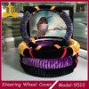 Tampa de roda da direção do carro de lãs artificiais de tampa de roda da direção do luxuoso
