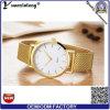 Nuevos relojes del hombre del cuarzo de Japón Movt del Mens del reloj de la promoción de la placa de oro de Rose del reloj de los hombres de la correa del acoplamiento del reloj del diseñador de moda de la venta caliente Yxl-300