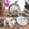 記念品のためのロープとのレトロ様式の陶磁器のコースター陶磁器のGfit