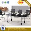 黒い事務机の絵画オフィス用家具の金属の会合表(NS-GD053)