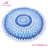 安い卸し売り青の単に曼荼羅によって印刷されるビーチタオル