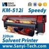 Impressora solvente da impressora Km512I para o material ao ar livre do rolo