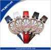 Reloj Oval-Shaped de lujo de la calidad de la manera única suiza del diseño para la mujer