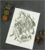 Etiqueta engomada temporal impermeable negra de moda del tatuaje