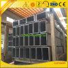 Tuyauterie carrée en aluminium expulsée personnalisée pour la construction de mur rideau