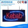 Знак Kebab СИД прямоугольника Hidly электронный