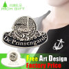 Pin Badge di Stamping del ferro con Black Nickel Plating
