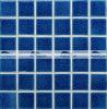 мозаика плавательного бассеина тяжелого хруста 48X48mm синяя керамическая (BCK652)