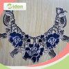 Laço elegante bonito do azul real 3D Colar de teste padrão de flor do engranzamento