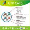 ETL/RoHSのひだUTPケーブルの工場Cat5eネットワークケーブル