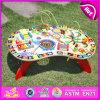 2015 jogo magnético do brinquedo do brinquedo da instrução para miúdos, brinquedo educacional das crianças de madeira inteligentes, brinquedo educacional W12D022 do grânulo da corda