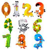 OEM ontwerpt speciaal de Digitale Ballons van de Folie van het Aantal