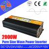 12V 24V 48V CC a CA de 110 V 220 V fuera de la red de onda sinusoidal pura 2000W inversor de la energía solar