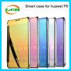 Huawei P9のための電気めっきのスマートなミラーフリップカバーケース