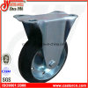 6 Inch Fixed Industrial Caster mit Black Rubber Wheel