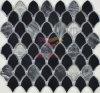 Schwarzes Verglasung keramische Mischungs-graues Marmormosaik (BK002)
