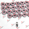 Rosafarbenes Rhinestone Heart Slider Charms für Hair Accessories (SL132)