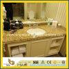 Tapa prefabricada de la vanidad del cuarto de baño del granito de Giallo Veneziano
