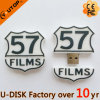Movimentação feita sob encomenda do flash do USB da forma do logotipo de Película Companhia (YT-FC)