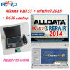 Software 2016 do auto reparo de Alldata V10.53 com o Mitchell com o 1tb HDD instalado no computador D630 pronto para trabalhar o software diagnóstico do carro