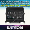 Witson Car DVD para Toyota Alphard Car 2007-2013 DVD GPS 1080P DSP Capactive Screen WiFi 3G Front DVR Camera