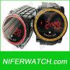 Reloj de la aleación de la pantalla táctil de la PU LED (NFSP294)