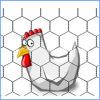 金網を耕作している六角形の電流を通された鶏