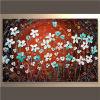 Pintura al óleo de la flor hecha a mano moderna de la decoración