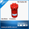 Q12 64mm T38 Ballastic Threaded Rock Button Drill Bits