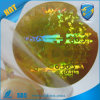 3D Golden Hologram Sticker in Sheets/laser Anti-Counterfeit Label