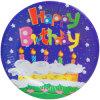 Placa de papel feliz de la fiesta de cumpleaños