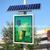Boîtier de lumière publicitaire de défilement de poteau solaire
