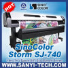1.8m Print Size、Dx7 Head、Sinocolor Sj-740のプロッターSolvente