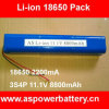 18650 3s4p 11.1V Lithium Battery Pack 8800mAh voor Power Tools