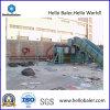 Semi-Auto Hydraulic Cardboard Baler con Conveyor