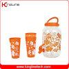 1 gallon Sun Tea Plastic Water Jug (matériau en verre et d'animal familier) Wholesale BPA Free avec Spigot et Four Cups (KL-8007)