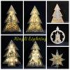 Forse indicatori luminosi di legno dell'albero di Natale di qualità non migliore LED per illuminazione dell'interno della decorazione