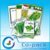 Bolso vegetal impreso aduana del embalaje de la semilla