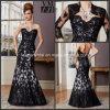 A matriz preta dos vestidos de noite do revestimento do laço da noiva veste M71034