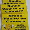 Impression r3fléchissante de Digitals de collants d'étiquette de face jaune de sourire pour des signes