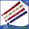 Kundenspezifisches Form100%polyester Gewebe gesponnene Wristbands für fördernde Geschenke