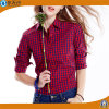 2017人の方法女性の小作農のブラウスは綿のブラウスのワイシャツを越える