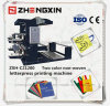 Machine d'impression flexographique de couleurs du tissu deux Zxh-C21200
