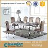 居間の家具の特別なデザインガラスダイニングテーブル