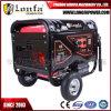 Taizhou 중국 바퀴를 가진 휴대용 6.5kVA 침묵하는 가솔린 발전기